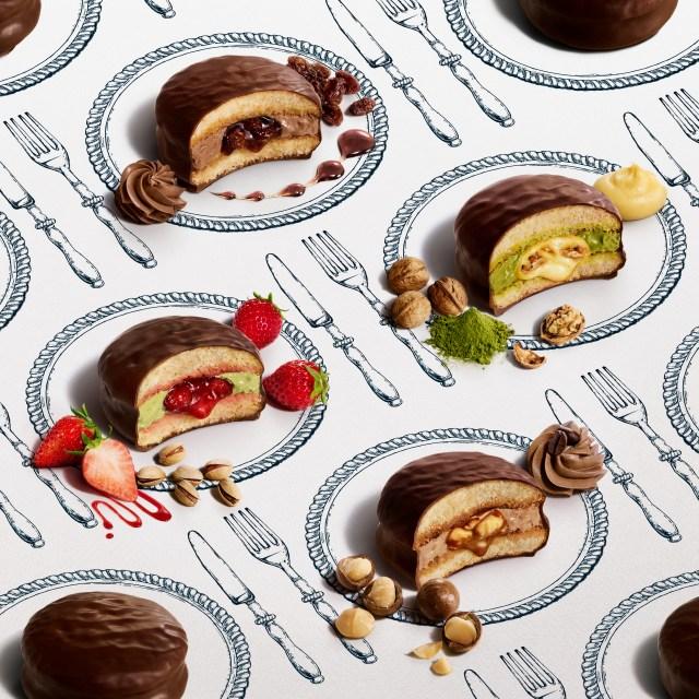 """【本日から】ロッテの「チョコパイ」をフォークとナイフで食べる!? 京王百貨店に「 """"生"""" チョコパイ専門店」がオープンしたよ! トシ・ヨロイヅカがプロデュースしています"""