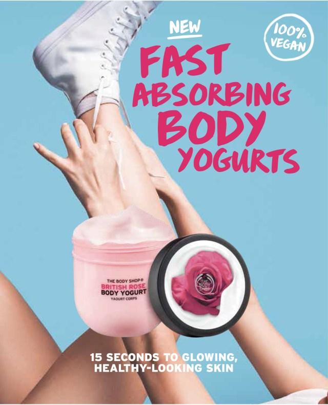 【食べちゃダメ】 ザ・ボディショップから「ボディ用ヨーグルト」が発売!?  サラッとしてベタつかない肌になるそうです