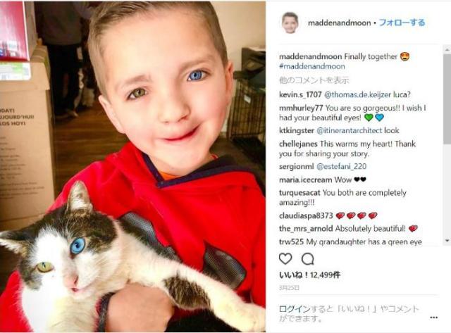 【これは奇跡】病気で悩む少年に、同じ症状を持った猫がやってきました