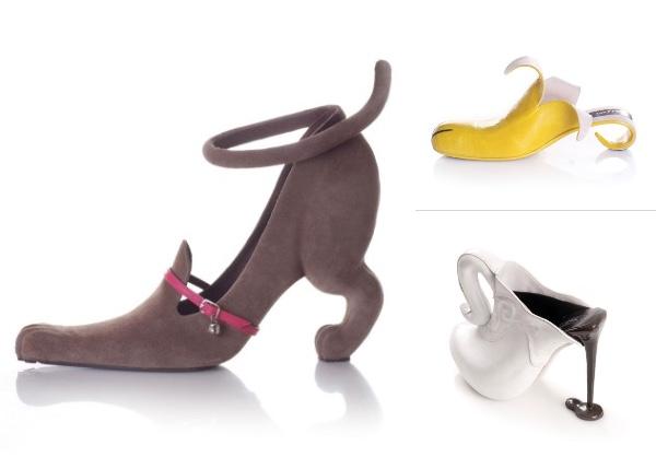 【もはや芸術】目の付け所が独創的すぎるコビ・レヴィのパンプスに注目♪ 伸びをする猫に、むいたバナナ…