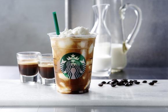 スタバ新作はオトナ風味♪ 「エスプレッソ アフォガート フラペチーノ」はコーヒーのほろ苦さとミルクの甘さの絶妙のハーモニーにハマっちゃいそう♡