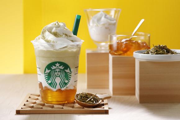 スタバ新作は「加賀 棒ほうじ茶 フラペチーノ」! ホワイトチョコクリームと加賀棒ほうじ茶ジェリーを合わせた和のデザートドリンクだよ♪