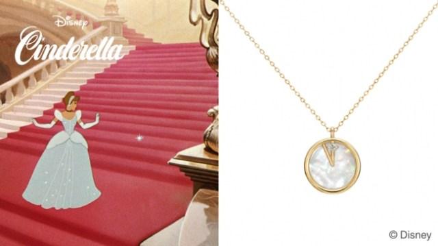 【オトナ女子向け】ディズニープリンセスをイメージしたネックレスがロマンティック♪ 「シンデレラ」は12時の時計、「ラプンツェル」はランタンとさりげないモチーフです