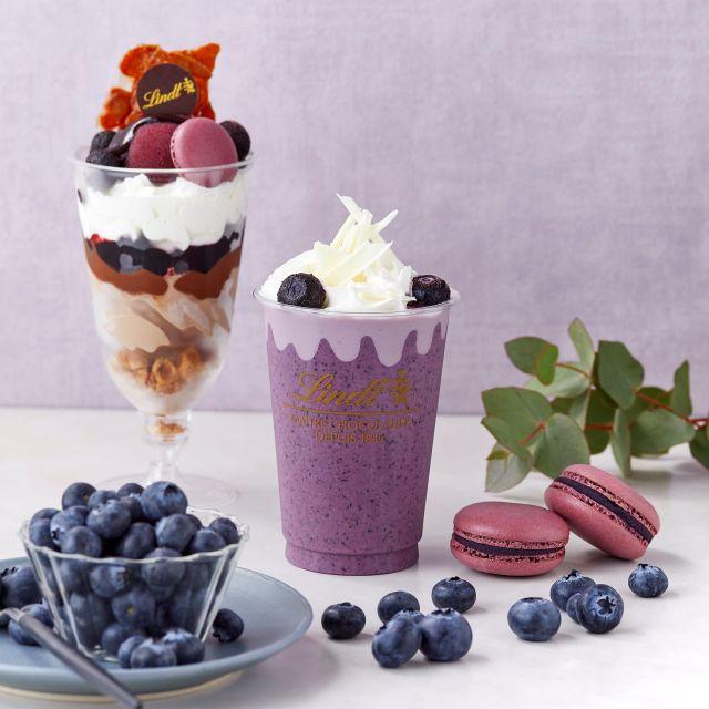 リンツカフェのチョコ×フルーツを合わせた夏限定メニューが美味しそう♪ ブルーベリー、白桃、ストロベリーと月ごとに果物が変わります