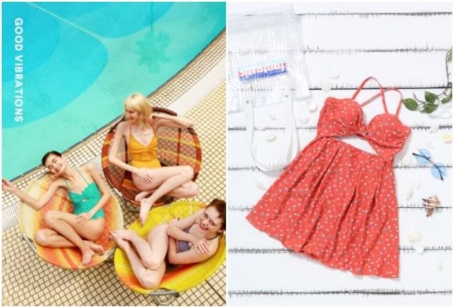 ローリーズファームから初の水着が登場♪ ワンピース型やドットモチーフなど60年代風で可愛い&体型カバー効果も
