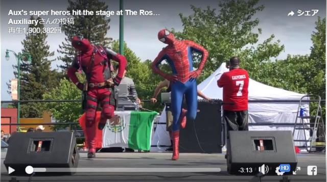 【かわいすぎか】スパイダーマンとデッドプールが仲良くキャピキャピ踊る姿に胸がキュン! デップーちゃんがスパイダーと親友になりたい設定です