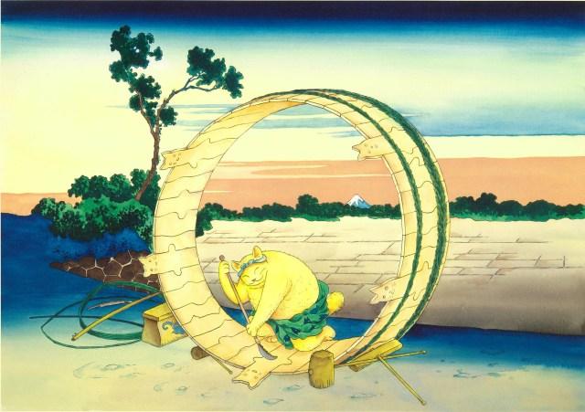 北斎作品に「猫」が参戦!? 江戸と現代の芸術家たちがコラボした「ますむらひろしの北斎展」が開催されます