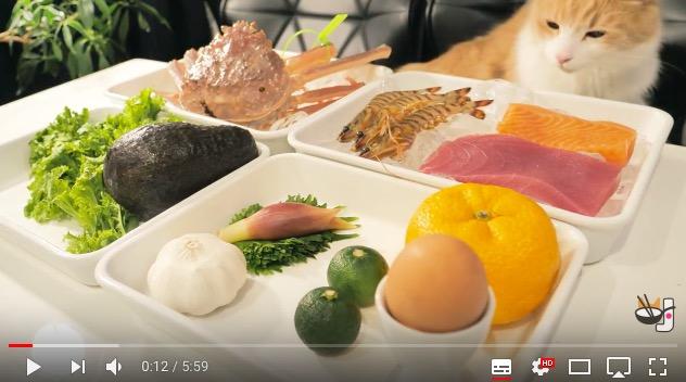 【にゃんこと一緒♪】手際よくカリフォルニアロールを作る動画が眼福でしかない! リズムよし、にゃんこよし、料理よしの三拍子そろってます