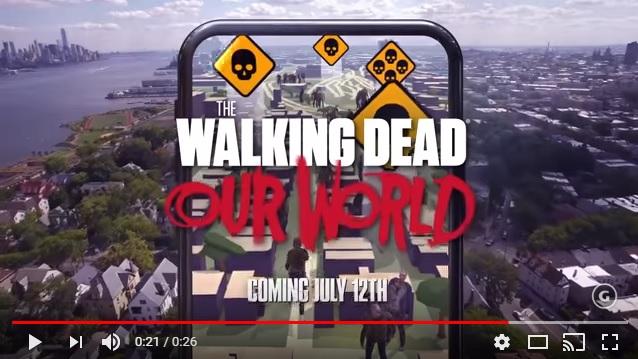 大人気ドラマ『ウォーキング・デッド』を体感できるアプリが登場! ポケモンGOみたいに街中にゾンビが登場するですと!?