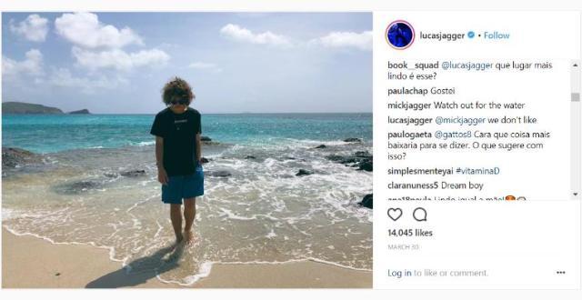 ミック・ジャガーの親ばかコメントにほっこり…「水に気をつけて」「楽しそうだな」 19歳になる息子のインスタでのやり取りに世界中が注目