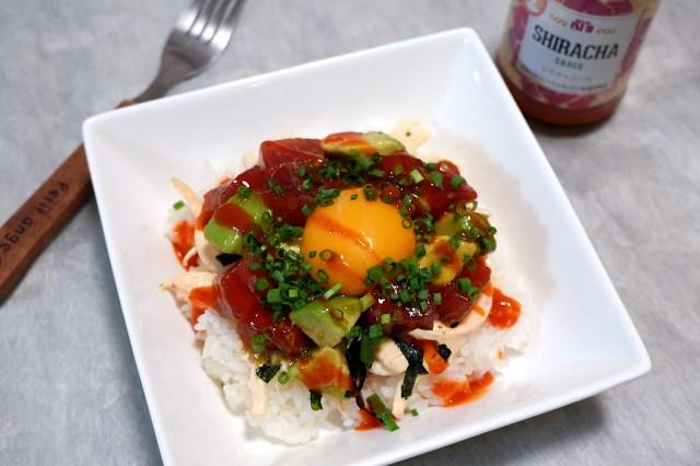 【簡単レシピ】 成城石井レシピの「マグロとアボカドのスパイシーポキごはん」は混ぜるだけなのに簡単美味しいのです♪