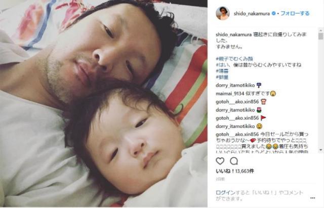 【DNAおそるべし】中村獅童親子の寝起きツーショット写真が似すぎて話題に / 顔のむくみ方までいっしょです!