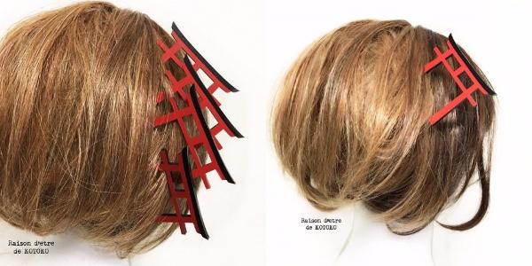 頭に「鳥居」が突き刺さってる!? インパクトありすぎなかんざしをヴィレバンで発見したよ! 何本も飾れば京都の伏見稲荷状態に