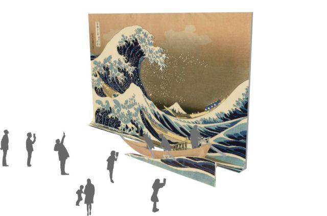 名画の世界に入り込める! 東京国立博物館×びじゅチューン!「なりきり日本美術館 」が楽しそう / 葛飾北斎が描いた波の大きさを体感できるよ