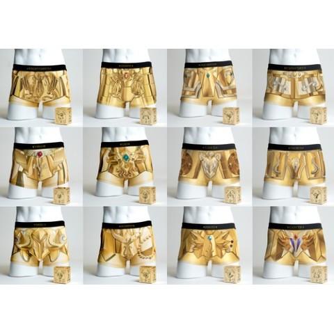 【聖闘士星矢】黄金聖衣12星座をデザインした地上最強のボクサーパンツが爆誕! 履けばバリバリ小宇宙(コスモ)を感じられそう…?