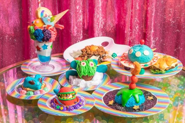 【キモ可愛い】「カワイイモンスターカフェ」が3周年記念で宇宙にフォーカス! エイリアンやUFOモチーフのカラフルポップな特別メニューがズラリ☆