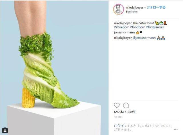【美麗】野菜、フィルム、チョコレート…身近なものを「靴」に仕立てるアート写真にひと目惚れ♡