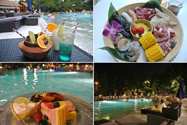 【穴場】ヒルトン東京ベイのプールサイドで楽しめるハワイアンBBQが最高すぎる! デザートビュッフェつきでナイトプールも素敵です