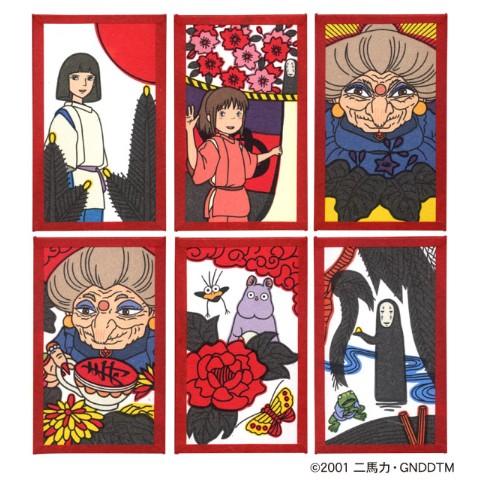 【素敵やん】『千と千尋の神隠し』デザインの花札がかっこよすぎる! 湯婆婆やハクが「松に鶴」「菊に盃」といった絵札に描かれています