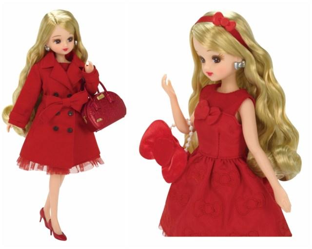 大人リカちゃん×ハローキティのコラボドールがめちゃんこカワイイ! キティちゃんのリボンをモチーフにした華やかなドレスや小物にうっとり♡