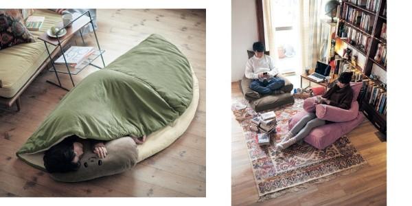 ベルメゾンが「引きこもり生活」を促進!! 「柏餅になれるお布団」「布団をソファに変身させる袋」など人をダメにする気満々です