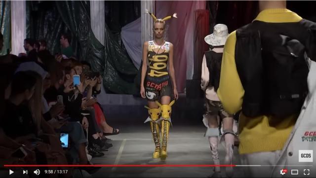 モデルさんがピカチュウに大変身!?「GCDS」2019年春夏コレクションの発表会でポケモンアイテムが続々登場しました