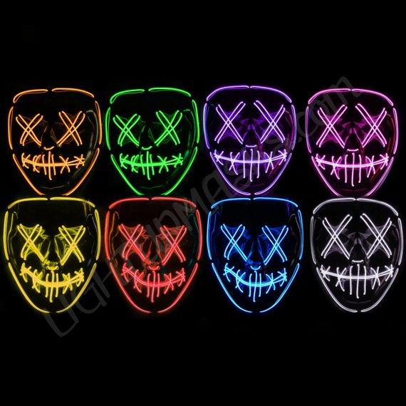 【ハロウィンに】かぶるだけ、なのに不気味で迫力満点!! LEDで顔が光る「ライトアップマスク」はいかが?
