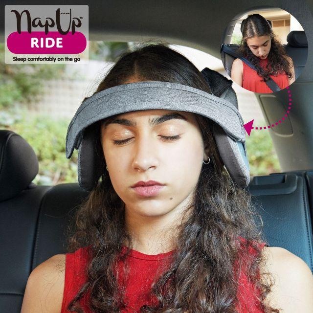 """車内でウトウトしているときに起こる """"首カックン"""" を防ぐ便利グッズが発売されたよ~! 正しい姿勢を保つことで事故防止にも"""