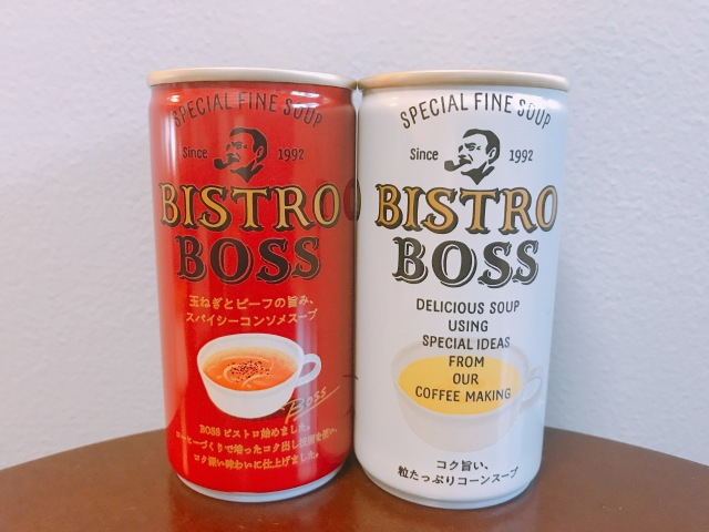 【本音レビュー】缶コーヒーのBOSSのスープ「ビストロボス」を飲んでみたら…本格的すぎてびっくり! お皿とスプーンで飲みたくなるよっ