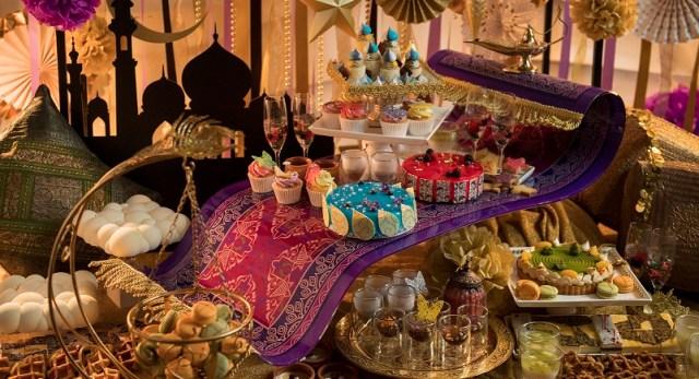 魔法の絨毯がお出迎え♪ ヒルトン大阪のデザートビュッフェのテーマはエキゾチックな「アラビアンナイト」です