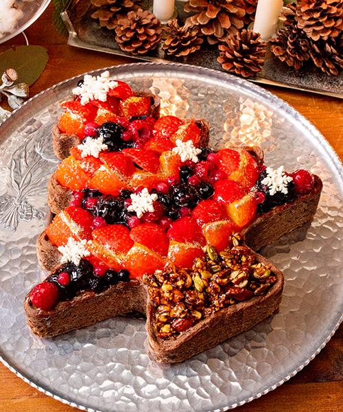 キルフェボンのクリスマスケーキの予約が始まったよ~! ツリーやリースをイメージしたタルトが3種類そろってます