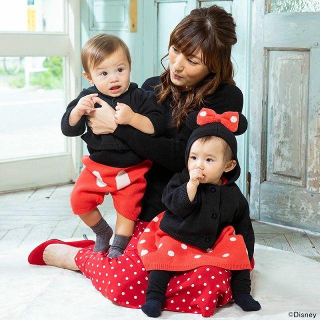 赤ちゃんがミッキーマウスやミニーマウスに変身! ママとのリンクコーデが楽しめる「なりきりベビーウェア」がかわえええ
