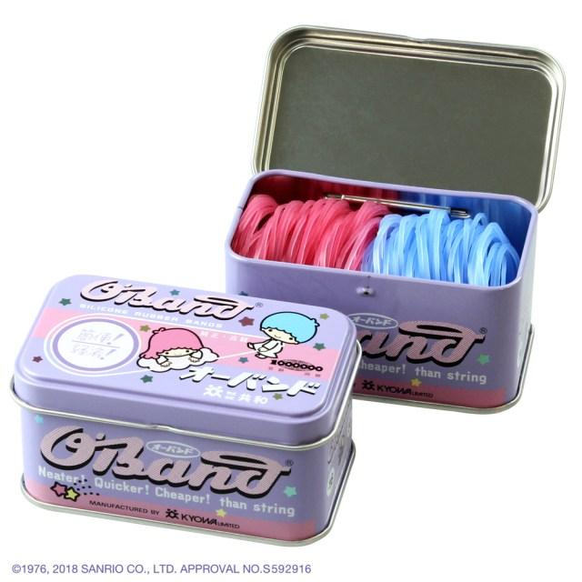 キキララと輪ゴムの「オーバンド」がコラボ! ゴムの色もピンクと水色でめちゃんこかわいい〜♡