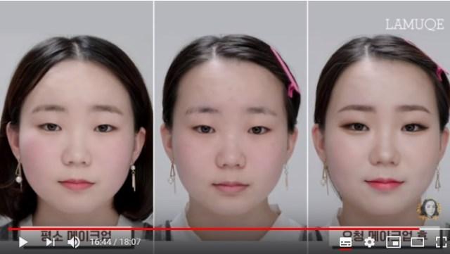 【化粧スゴイ】一重の平安顔女子がアイプチ・カラコンなしで「でか目」&「小顔」にするメイク術がすごいんです