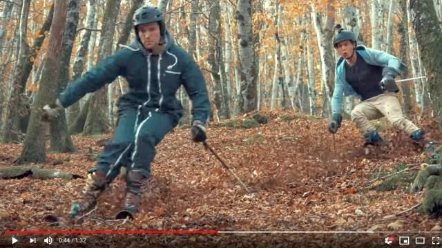 秋に楽しめる「落ち葉スキー」が気持ちよさそう! 白銀のゲレンデとはまた違った魅力があります