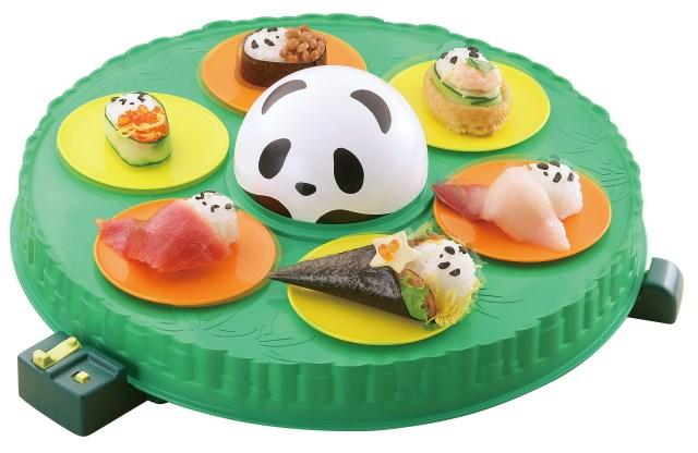 """お寿司もテーブルもぜ~んぶ """"パンダ"""" ! パンダ寿司を作って回せる「超パンダおうちでコロコロ回転寿し」がめちゃんこ楽しそう♪"""