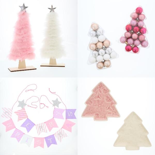 やさしいピンクのクリスマス♪ 「3COINS」の今年のクリスマスグッズはカラーリングが可愛すぎるのです