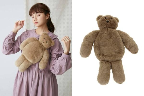 ウエストポーチというより「クマのぬいぐるみ」すぎる! かわいすぎるクマさんのモフモフバッグを発見したよ★