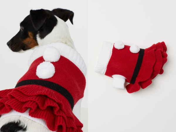 「H&M」のワンコ用衣装が想像以上に可愛くてオシャレ~! クリスマスアイテムが豊富にそろってます★