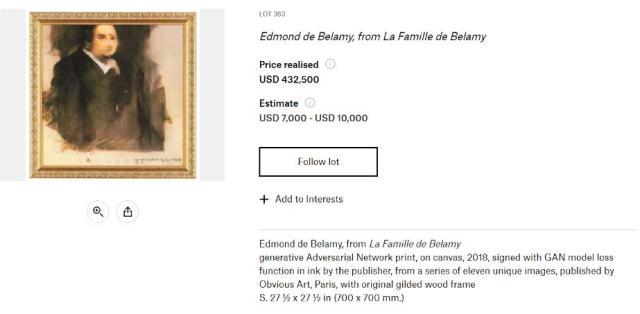 AIが一流画家になる時代!? 人工知能によって描かれた肖像画に約4900万円の値がつきました