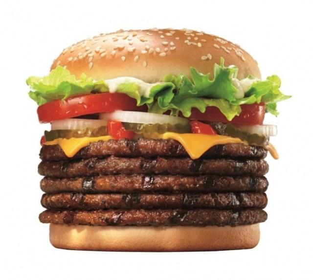 バーガーキングが「パティが5枚入ったワッパーチーズ」を販売! 肉のボリュームもカロリーもド迫力だよ