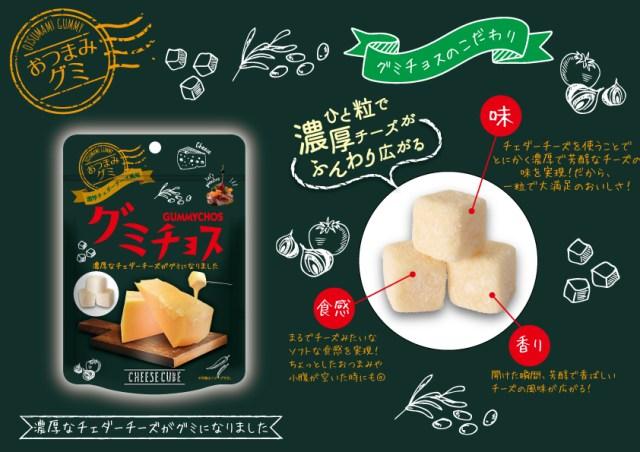 斬新すぎてコワイ! チーズを完全再現した「グミ」が登場するよ! その名も「グミチョス」