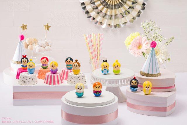 ディズニープリンセス達がナッツ型フィギュアに! クルクル回して遊んだり、並べて写真を撮ったり…大人も集めたくなる可愛さです♡