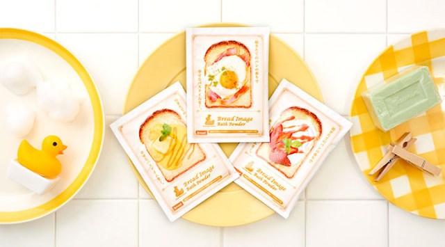 「焼きたてトースト」の入浴剤シリーズが攻めすぎている! ベーコンエッグ、いちごジャムなどの香りをお風呂で楽しめます
