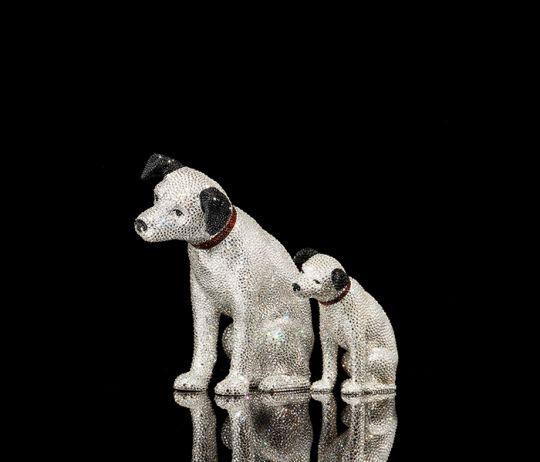 """ビクターのオンラインストアがオープン!  """"ビクター犬"""" ことニッパーくんのスワロフスキー製オブジェも登場したよ"""