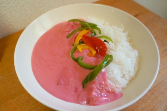 【鳥取のお土産】「ピンクカレー」はインド人もビックリの鮮烈ピンク色!しかも意外なほど美味しくて2度ビックリ #買って応援