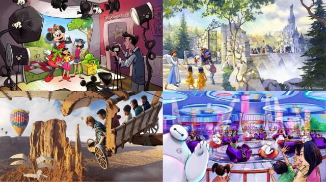 2020年にオープンするディズニー新エリアをご紹介! 「美女と野獣」「ベイマックス」「ミニーちゃん」の世界観が楽しめます