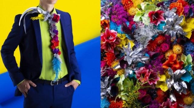 生花で作ったネクタイ「フラワータイ」がめちゃくちゃ華やか♡ 視線を釘付けすること間違いなしですぞ
