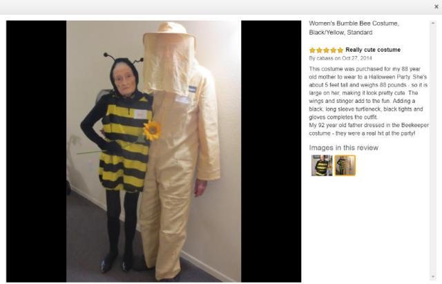 Amazonレビューに史上最強にかわいいコスプレイヤーが降臨!? 88歳のおばあちゃんがミツバチに変身しています