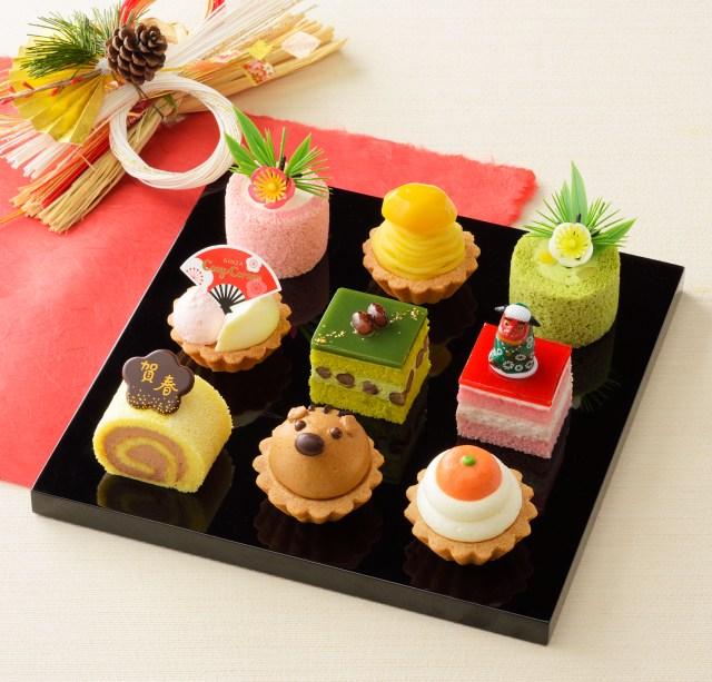 お正月にケーキのおせちはいかが!? コージーコーナーの「スイーツ初め」がお正月気分いっぱいです